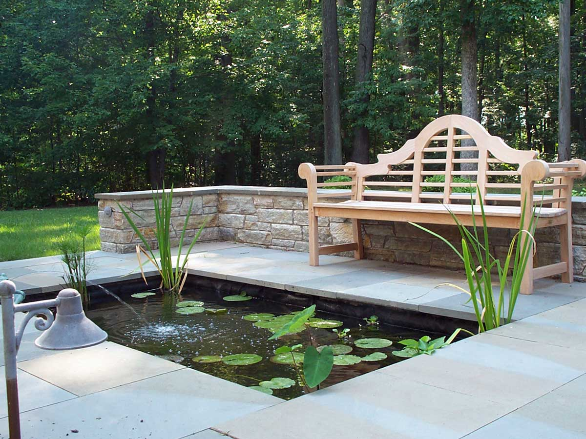 Patio,-wall-and-pond-installation